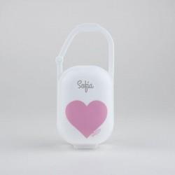 Cajita portachupetes corazón rosa