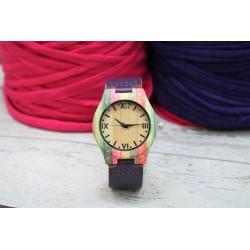 Reloj wood colors correa Malva