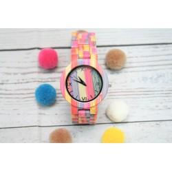 Reloj mujer colors correa madera