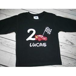 camiseta cars cumpleaños