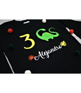 Camiseta cumpleaños dino
