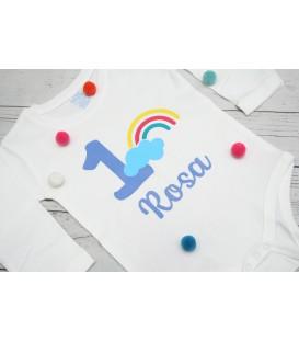 Camiseta cumpleaños arcoiris