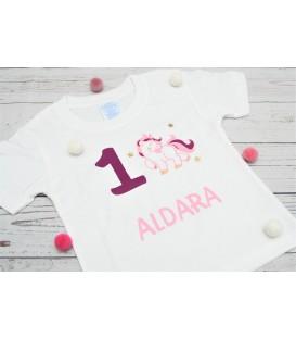 Camiseta cumpleaños unicornio 2
