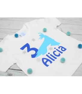 Camiseta cumpleaños Elsa nieve