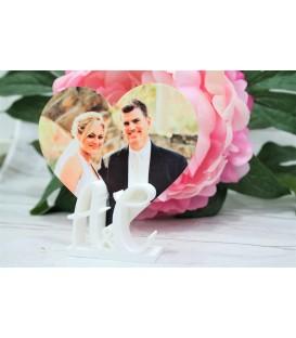 Detalle para boda personalizado iniciales y foto