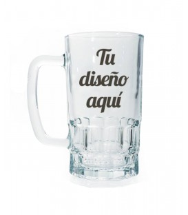 Jarra cerveza cristal personalizada
