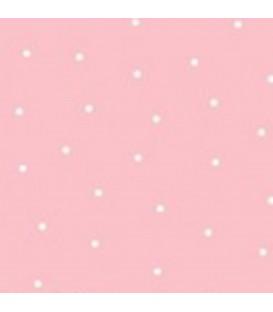 Tela punto rosa 100% algodón
