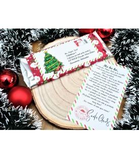 Tableta de chocolate carta Papá Noel