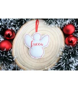 Decoración Navidad tela ángel árbol personalizada