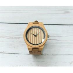 Reloj hombre madera skull