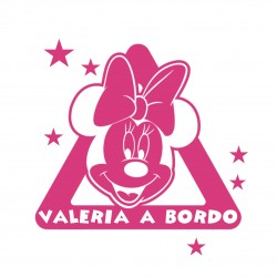 Vinilo minnie a bordo personalizado