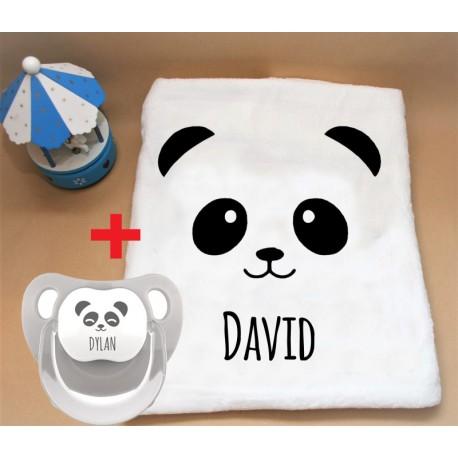 Promoción Manta + Chupete personalizado oso