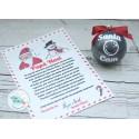 Santa Cam bola de navidad  con carta de Papá Noel
