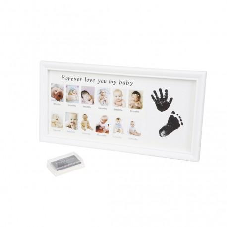 Porta fotos bebé para 12 fotos y huellas