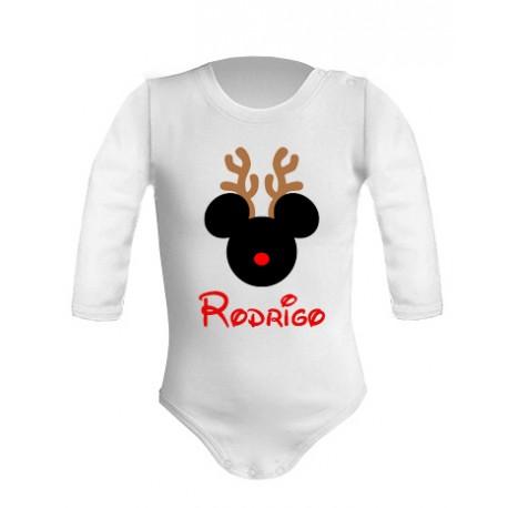 Body navideño Mickey personalizado
