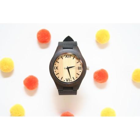Reloj madera hombre black