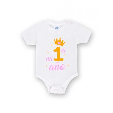 Body bebé personalizado mi primer año