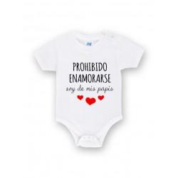 Body bebé personalizado prohibido enamorarse