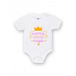 Body bebé personalizado mamá siempre hace magia