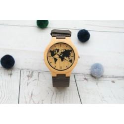 Reloj madera hombre world