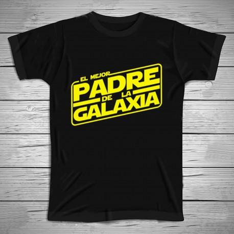 Camiseta el mejor padre de la galaxia