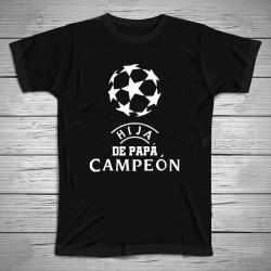Camiseta hijo/a de papá campeón