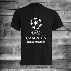 Camiseta papá campeón molas mogollon