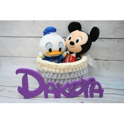 Nombre decorativo letra disney