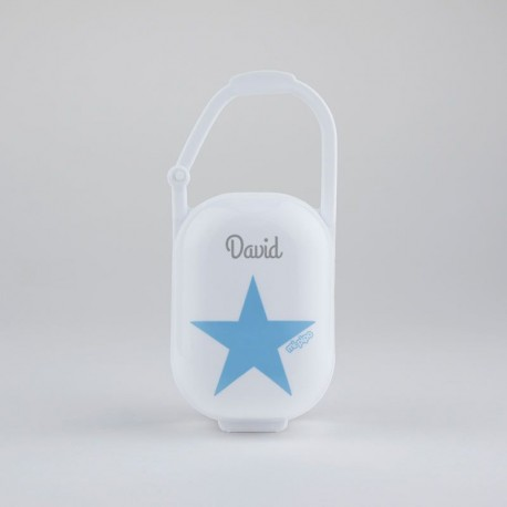 Cajita portachupetes estrella azul