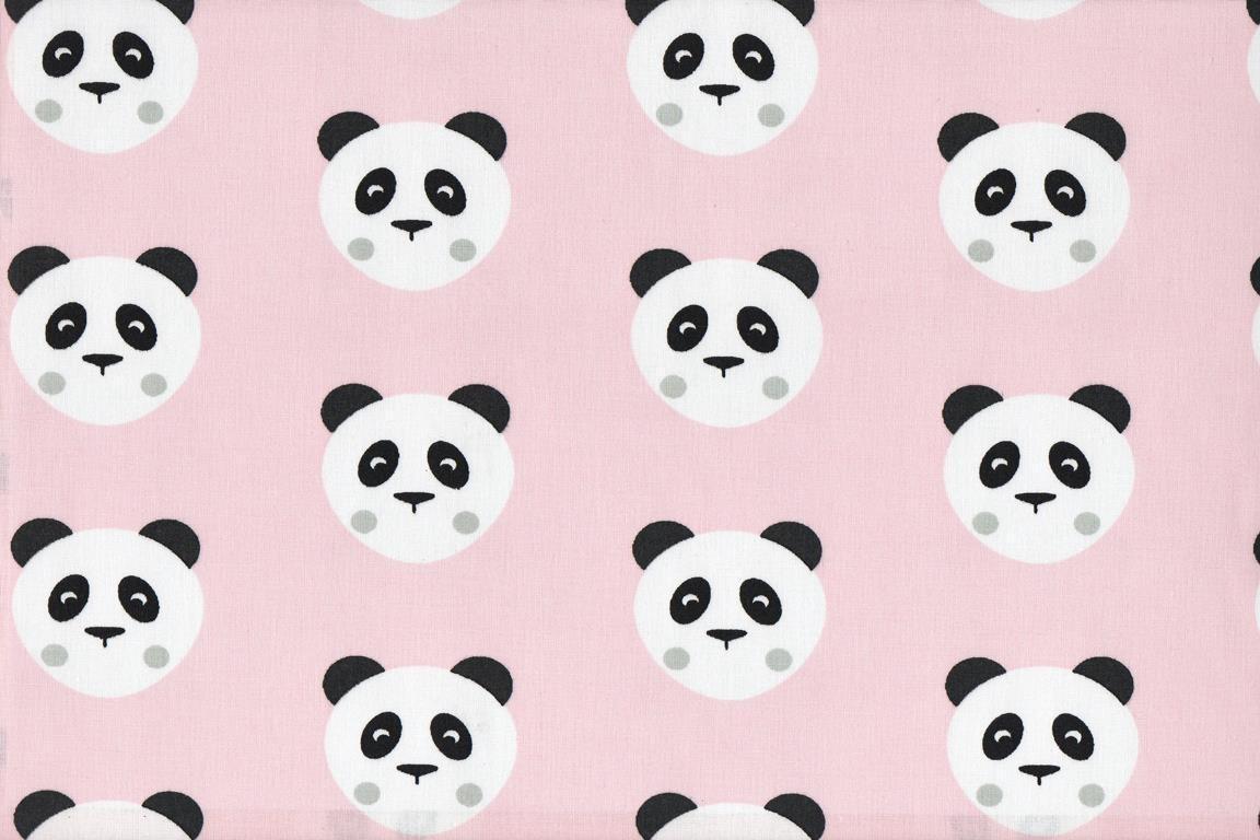 Oso panda rosa