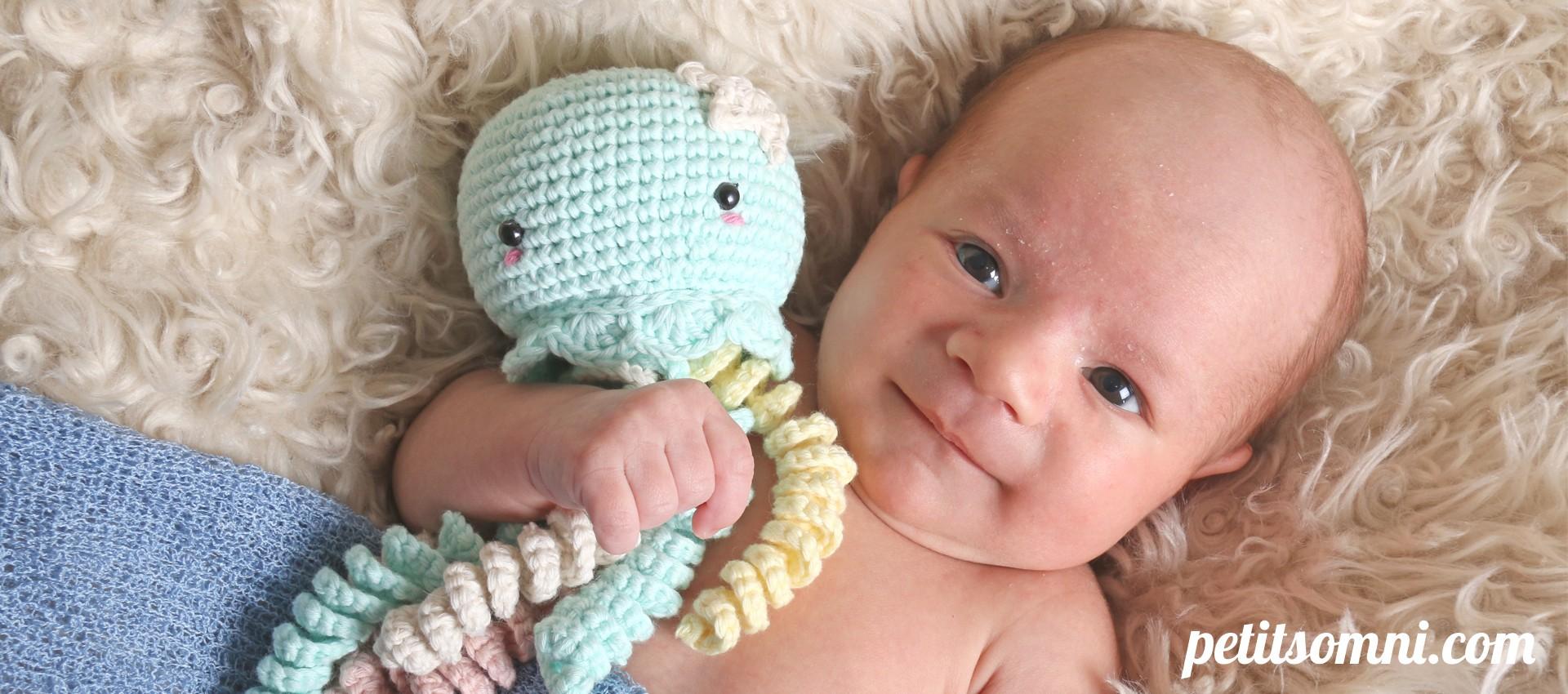 Medusa crochet hecha a mano