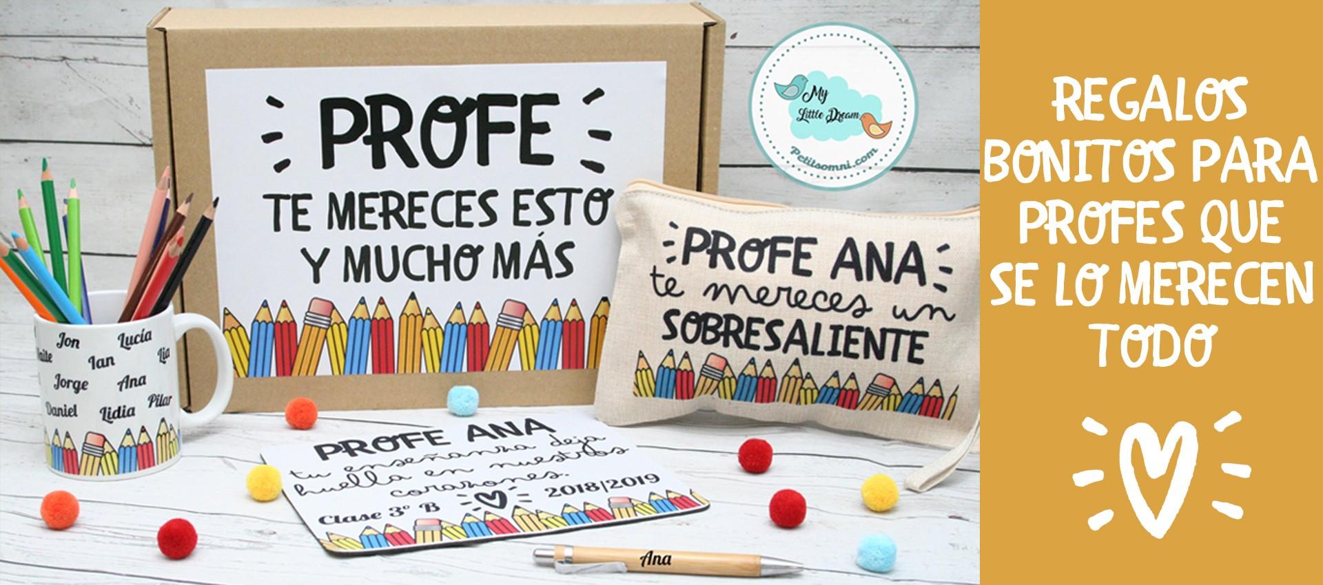 regalos para profesores y profesoras personalizado